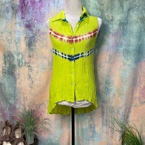 📌 EARTHBOUND Neon color crinkle Top - Blouse